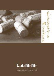 Weinkarte - Lamm