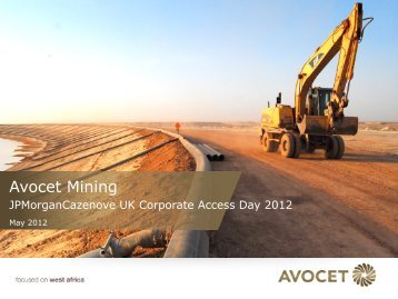 ebitda from operations - Avocet Mining PLC