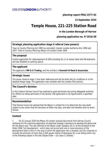 Temple House report PDF - Greater London Authority