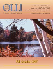 Fall Catalog 2007 - Osher Lifelong Learning Institute at BCC