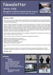 Winter 2009 - Broughton and Milton Keynes Parish Council