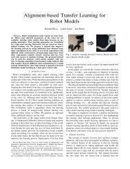 Alignment-based Transfer Learning for Robot Models