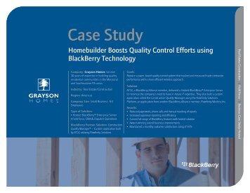 Homebuilder Boosts Quality Control Efforts using BlackBerry