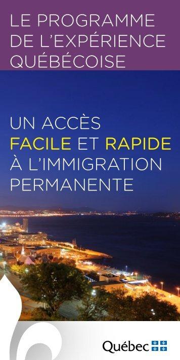 Le Programme de L'exPérience québécoise un accès facile et ...