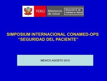 """simposium internacional conamed-ops """"seguridad del paciente"""""""