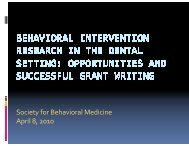 Panel Discussion #04 Behavioral Intervention - Society of ...