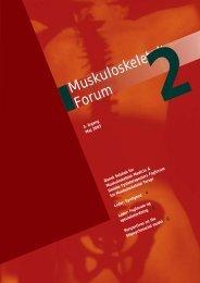 Muskuloskeletalt Forum - 2/2003 (pdf) - Fagforum for ...