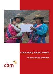 CBM Community Mental Health (CMH) - Implementation Guidelines ...