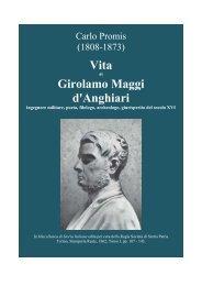 Vita Girolamo Maggi d'Anghiari - Libreria Militare Ares