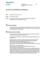 Yhtiökokouksen pöytäkirja - Teleste