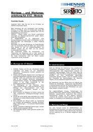 Montage - und Wartungs- anleitung für XYZ - Module - Hennig GMBH