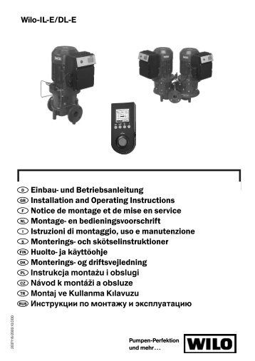 und Betriebsanleitung GB Installation and Operating Instructions ...