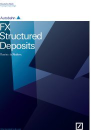 Deutsche Bank -- FX STructured Products - Autobahn