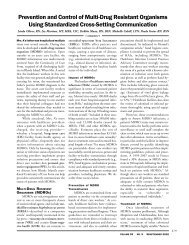 Prevention and Control of Multi-Drug Resistant Organisms Using ...