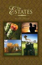 View Estates located at TPC San Antonio Brochure - Western Rim ...