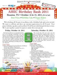 AHEC Birthday Bash 2011
