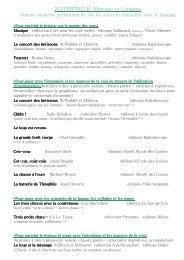 MATERNELLE albums musique et langage - IEN des Mureaux