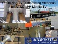 Optimizing TV Transmitting Antennas for ATSC-M/H Mobile TV