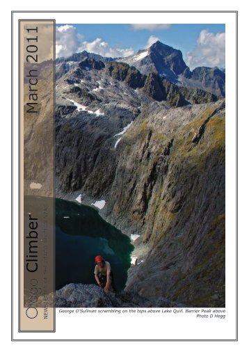 Otago Climber March 2011 - New Zealand Alpine Club