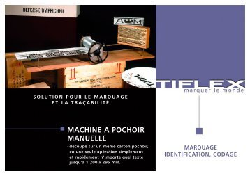 Télécharger notre fiche produit (PDF, 204 Ko) - Tiflex