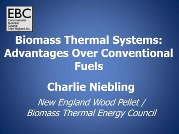 Charlie Niebling, General Manager, New England Wood Pellet