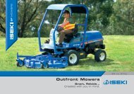 Outfront Mowers - Iseki