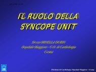 La Syncope Unit - Anmco