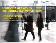 ACHIEVING GROWTH IN THE CONNECTED WORLD - Amdocs
