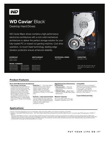 WD Caviar Black Series Disti Spec Sheet - Inet.se