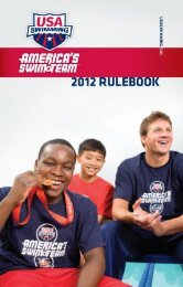 2012 USA Swimming Rule Book