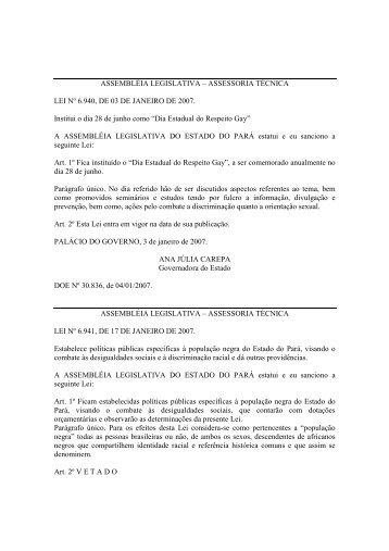 Leiord2007 - Assembléia Legislativa do Estado do Pará - Governo ...