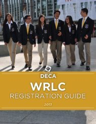 Download the Conference Registration Packet - California DECA