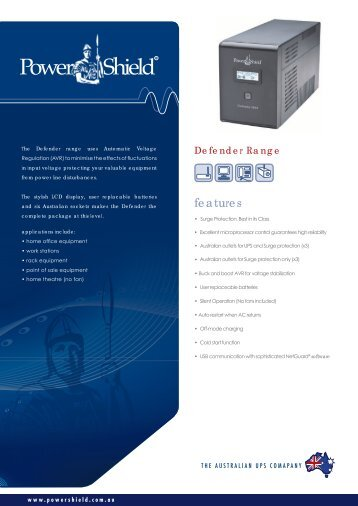 PowerShield Defender UPS Brochure
