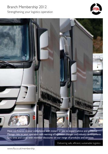 Branch Membership 2012 - Freight Transport Association