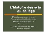 Diaporama explicatif - Histoire, Géographie, Education civique