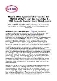 Mojix® STAR-System setztin Tests bei der METRO GROUP neuen ...