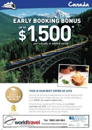 EARLY BOOKING BONUS - World Travel Professionals