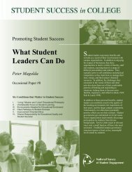 DEEP Practice Brief What Student Leaders Can Do - NSSE