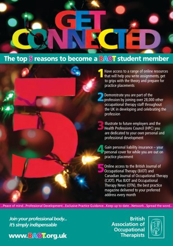 Get Connected leaflet - College of Occupational Therapists
