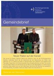 Gemeindebrief - Kirchenkreis Rantzau-Münsterdorf