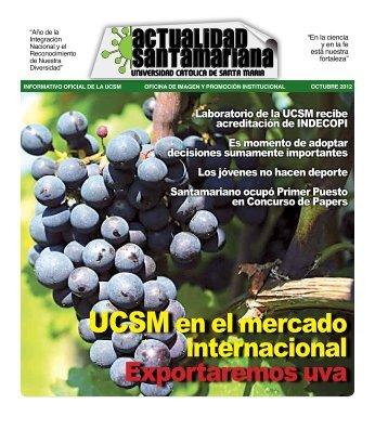 Octubre - Universidad Católica de Santa María
