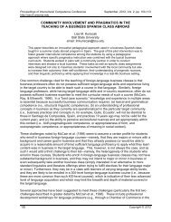 community involvement and pragmatics in the teaching of ... - CERCLL
