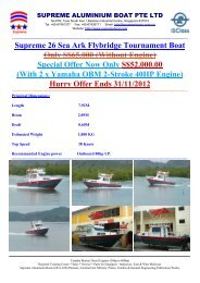 Supreme Sea Ark 26 Flybridge Tournament Boat Catalogue 112012 ...