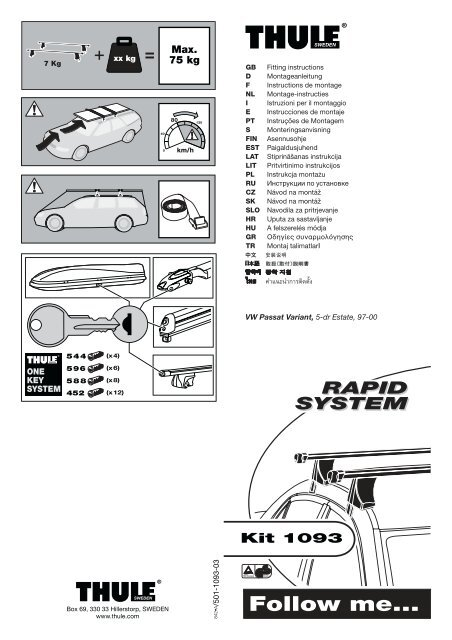 Kit 1093-03 VW Passat Variant.FH9