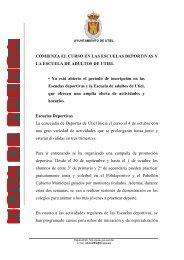 COMIENZA EL CURSO EN LAS ESCUELAS DEPORTIVAS Y ... - gva