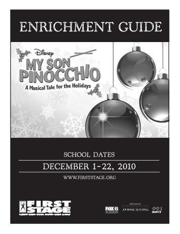 My Son Pinocchio Enrichment Guide - First Stage