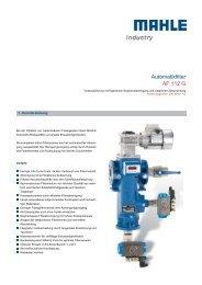 Automatikfilter AF 112 G - MAHLE Industry - Filtration