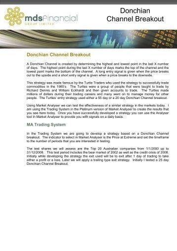 Donchian channel breakout (pdf) - Trader Dealer Blog