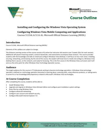 New Ctg Course Outline Template