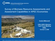 Survey of Biomass Resource Assessments and ... - APEC Biofuels